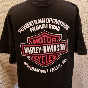 VERY RARE black Harley HQ plant tshirt, XL, EUC